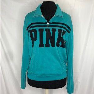 PINK turquoise crew neck